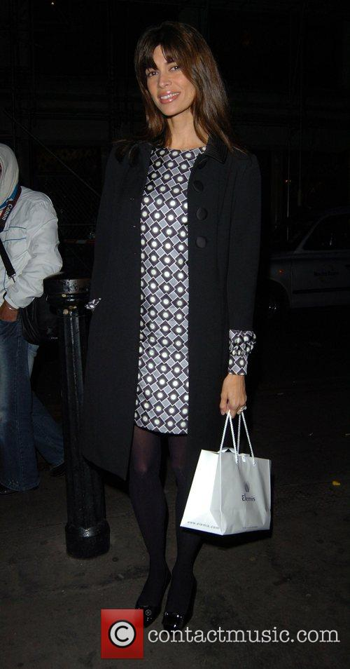 Lisa B leaving the Ivy restaurant