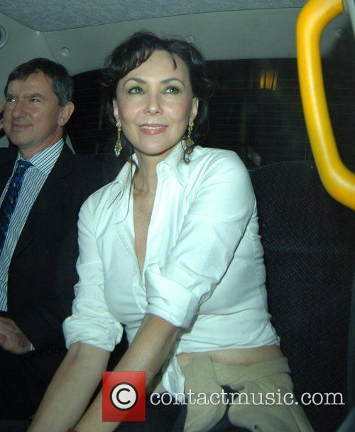 Marie Helvin leaving the Ivy restaurant