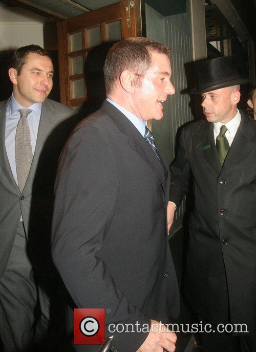 David Walliams and Dale Winton leaving The Ivy...