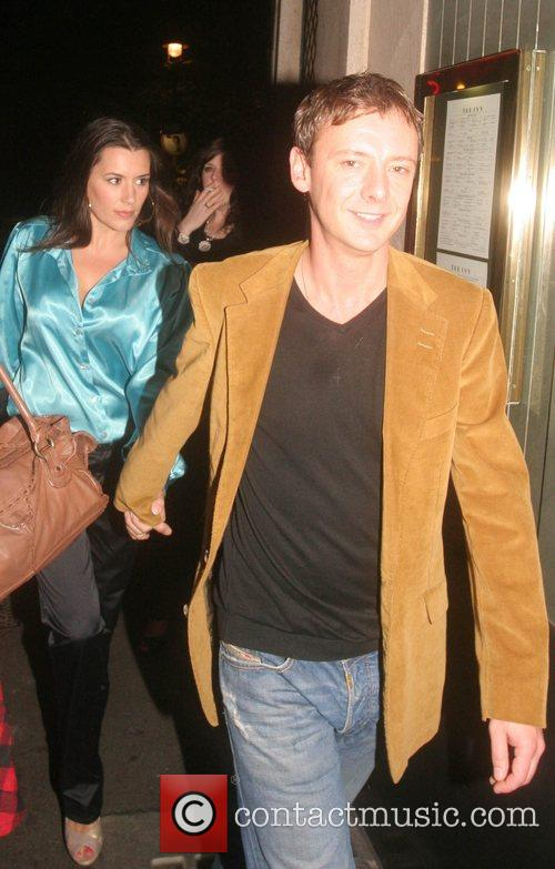 John Simm and wife leaving The Ivy restaurant...