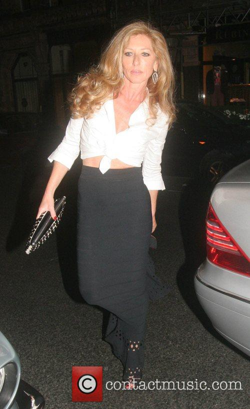 Leaving The Ivy restaurant