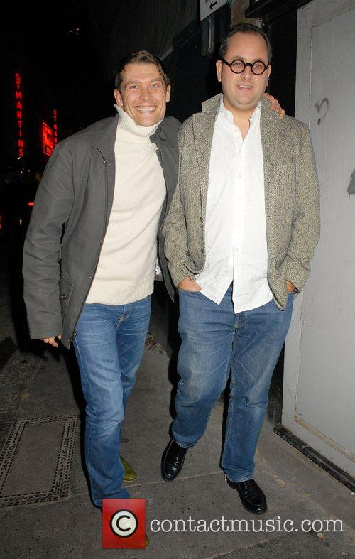 John Partridge and Guest leaving the Ivy restaurant...