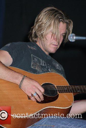 Country Music singer Jack Ingram performing live at...
