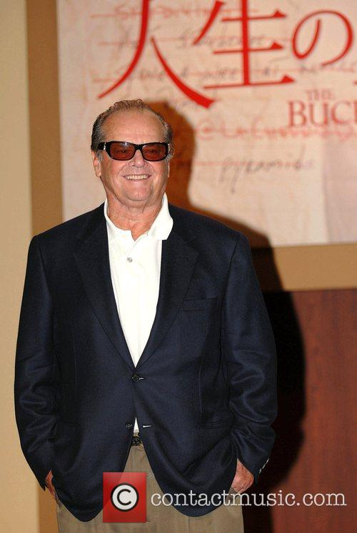 Jack Nicholson press conference for his new film...