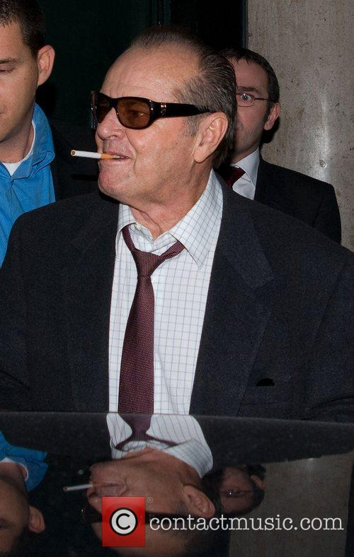 Jack Nicholson leaving the Ivy