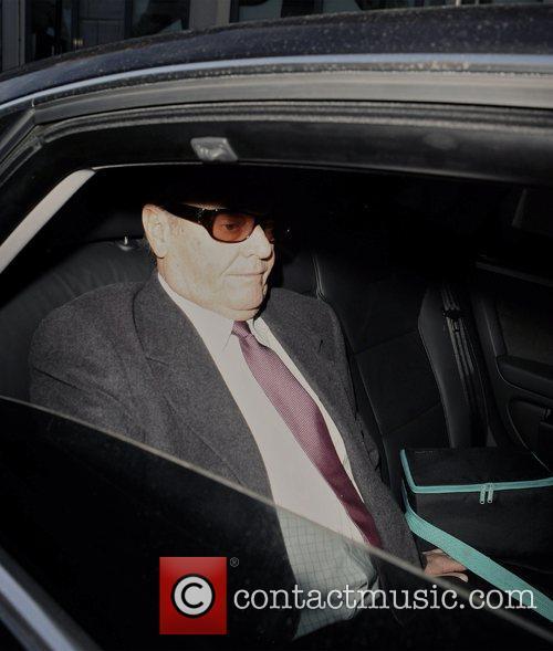 Jack Nicholson leaving Claridges on his way to...