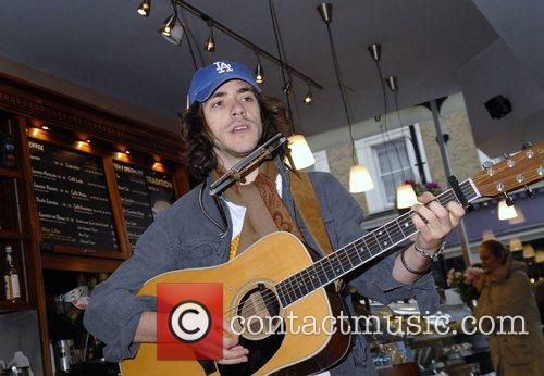 Jack Savoretti performing live at Cafe Nero on...