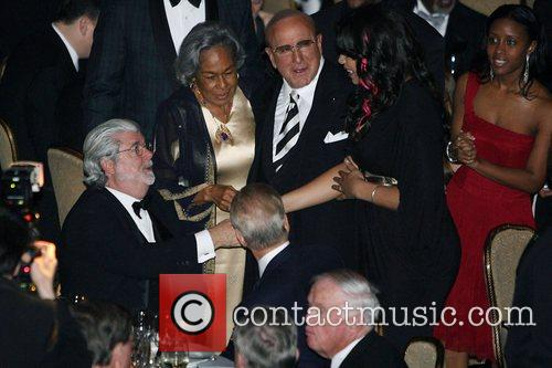 George Lucas and Clive Davis 9