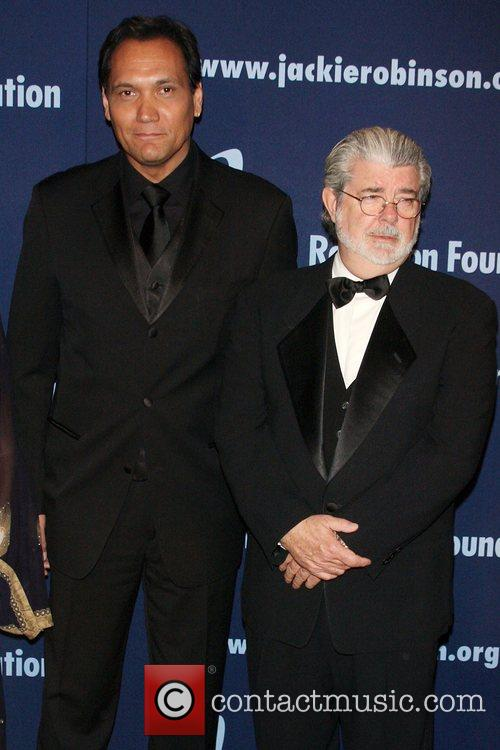 Jimmy Smits and George Lucas 6