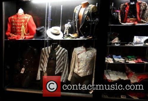 Michael Jackson family clothing on display at the...