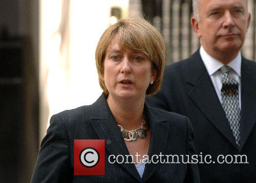 Home Secretary Jacqui Smith giving a statement at...