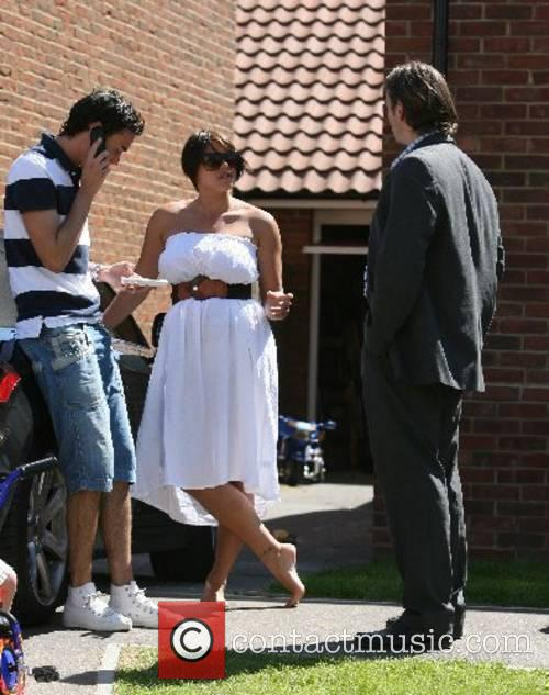 Jade Goody and Jack Tweedy enjoy the sunny...