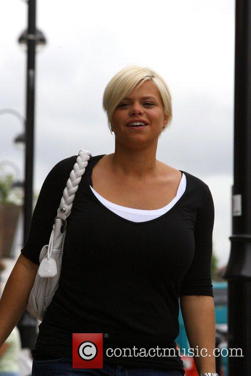 Jade Goody heads off to her local high...