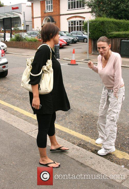 Jade Goody and Jackie Budden talking in the...