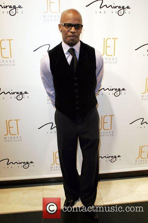Jamie Foxx celebrating his 40th birthday at JET...