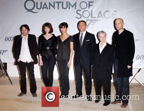 Olga Kurylenko, Mathieu Amalric, Daniel Craig and Judi Dench 2