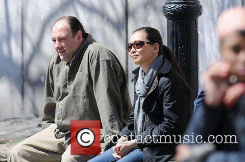 James Gandolfini and Deborah Lin on the film...