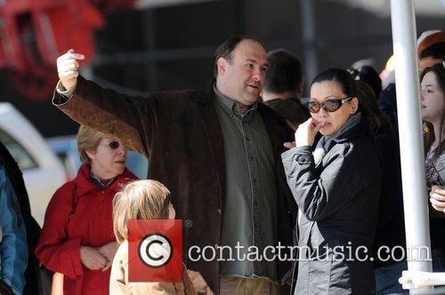 James Gandolfini, Deborah Lin and Michael Gandolfini on...