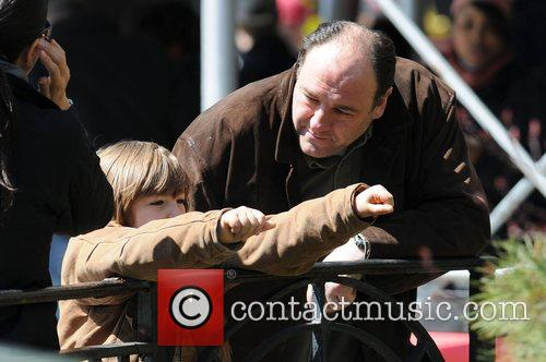 James Gandolfini and his son Michael Gandolfini on...