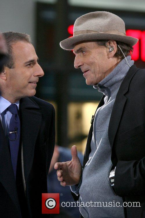 James Taylor performing live on 'The Today Show...