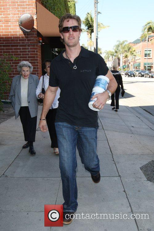 Leaving a medical center in Beverly Hills