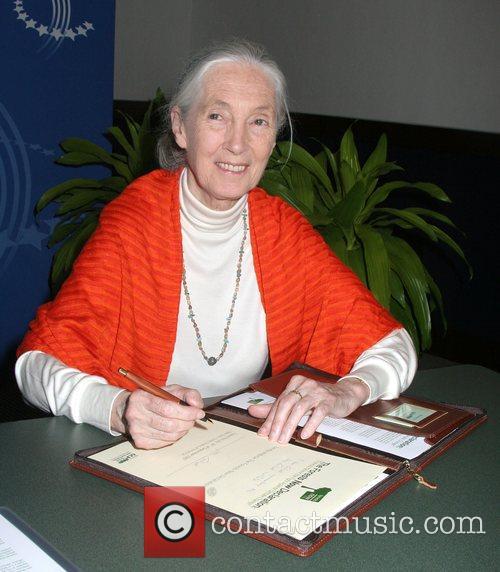 Jane Goodall at the Clinton Global Initiative at...
