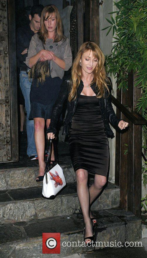 Jane Seymour and her dancing partner Tony Dovolani leaving Koi Restaurant 4