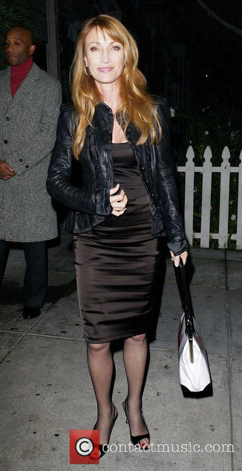 Jane Seymour leaving Koi Restaurant