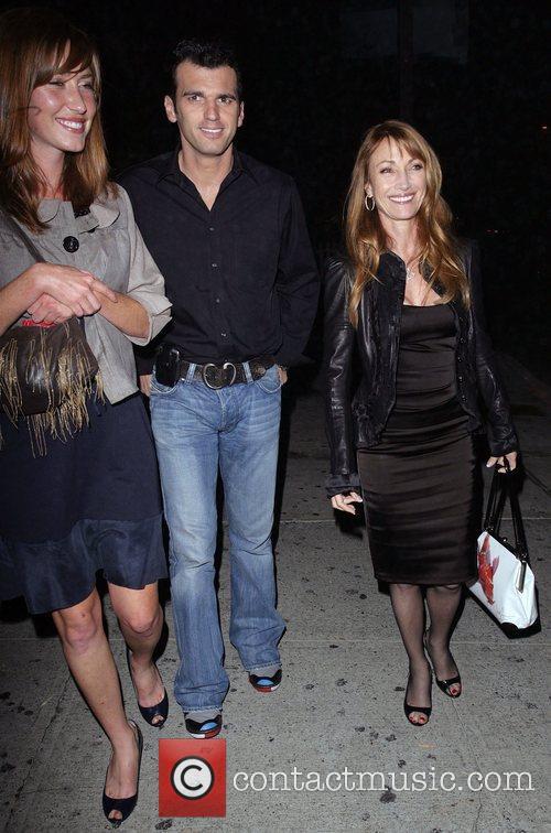Jane Seymour and Her Dancing Partner Tony Dovolani Leaving Koi Restaurant 2