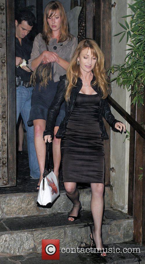 Jane Seymour and Her Dancing Partner Tony Dovolani Leaving Koi Restaurant 3