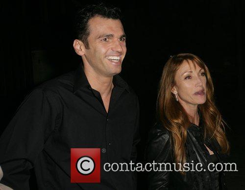 Jane Seymour and her dancing partner Tony Dovolani leaving Koi Restaurant 1