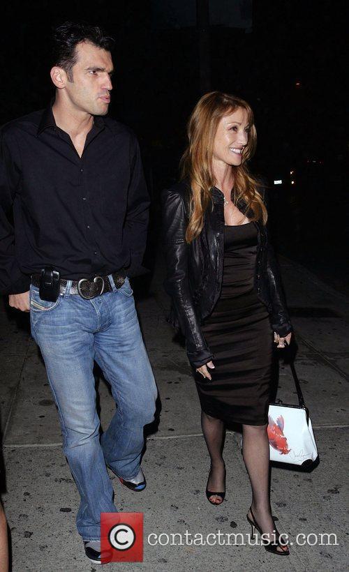 Jane Seymour and her dancing partner Tony Dovolani leaving Koi Restaurant 6