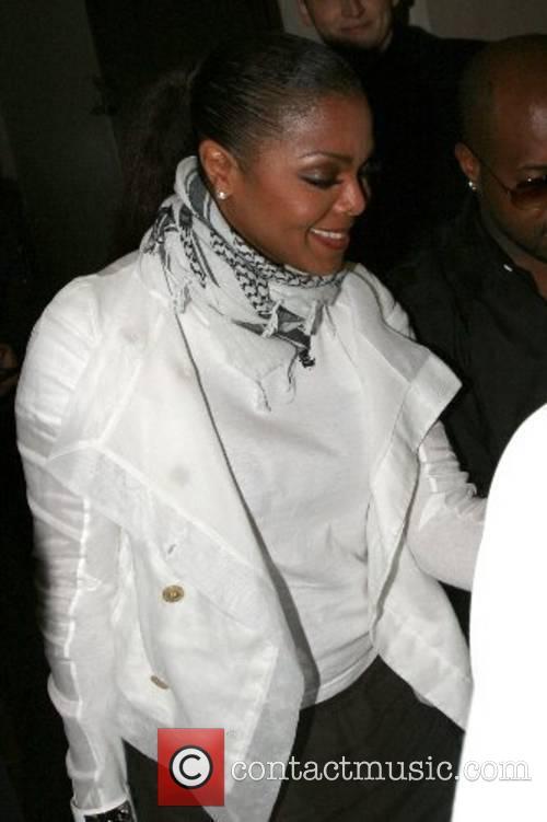 Janet Jackson leaving Nobu Berkeley Restaurant London, England