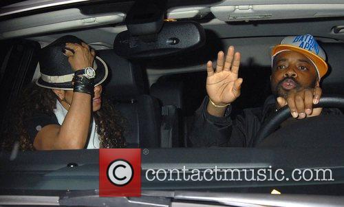 Janet Jackson and Jermaine DuPri Leaving Foxtail night...