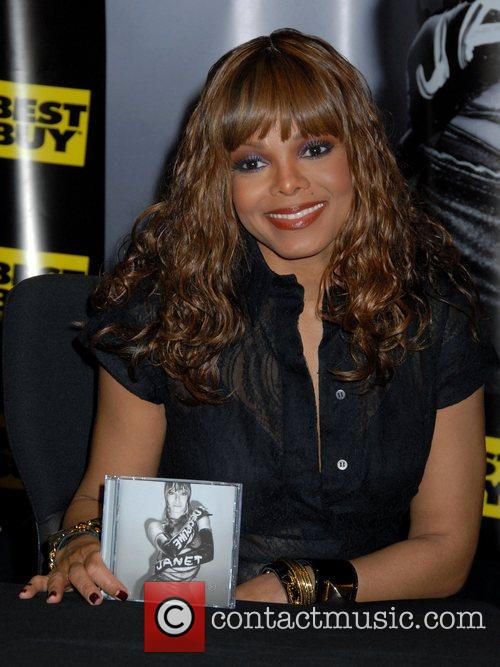 Janet Jackson at Best Buy to promote her...