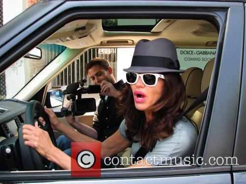 Janice Dickinson inside her SUV with TMZ Los...