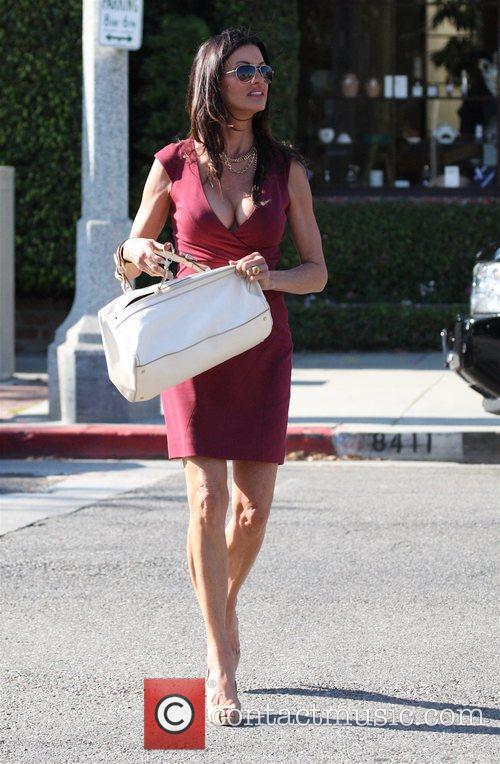 Janice Dickinson shopping on Melrose