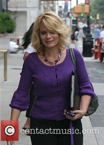 Entertainment Tonight correspondent Jann Carl leaving her Midtown...