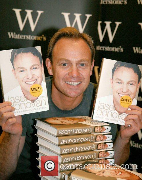 Jason Donovan signs copies of his autobiography 'Between...