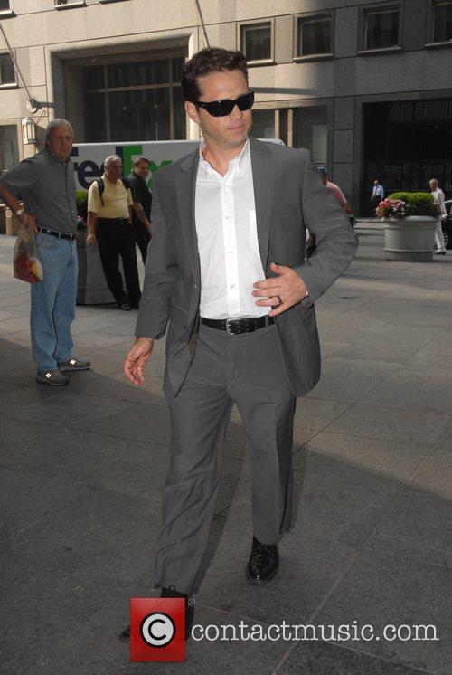 Jason Priestley outside Fox Studios for 'The Morning...
