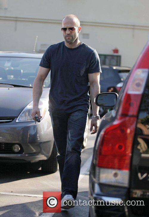 Jason Statham leaving Cafe Med