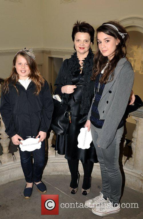 Lulu Guinness and daughters London Fashion Week Autumn/Winter...