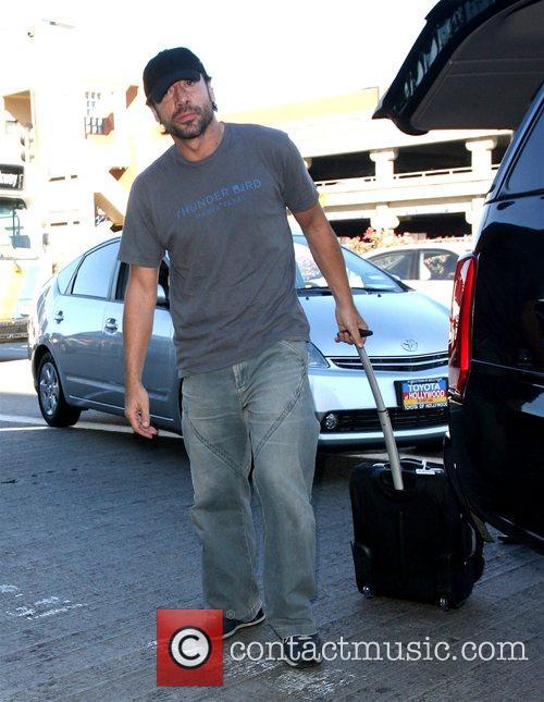 Penélope Cruz's new boyfriend, Javier Bardem, arrives at...