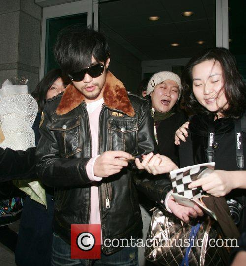 Taiwanese singer/actor Jay Chou arrives at Incheon International...
