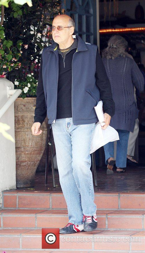 Jeffrey Tambor with wife and friends having lunch...