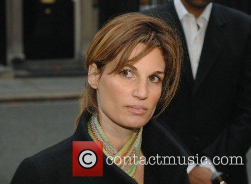 Jemima Khan handing in a petition at 10...