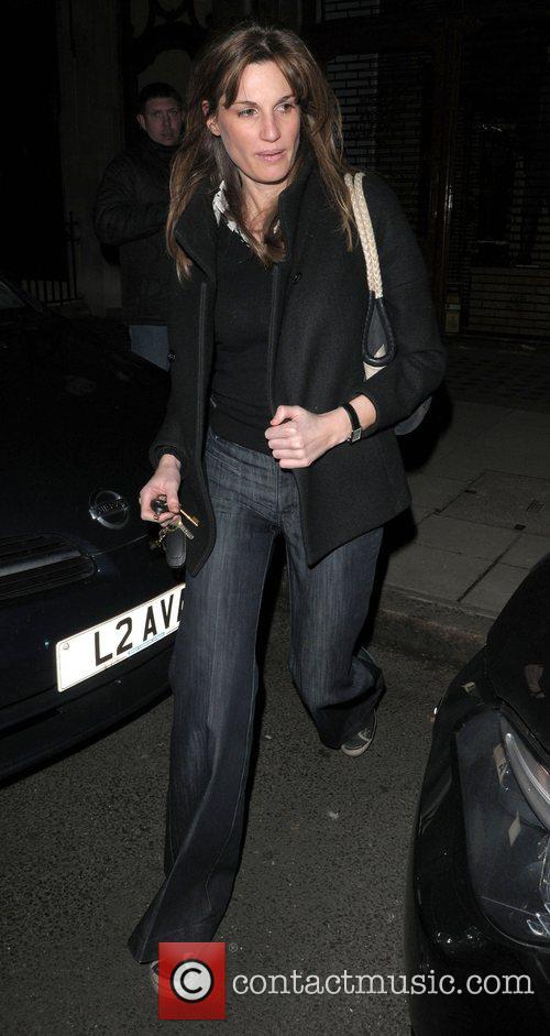 Jemima Khan  leaving Scott's resturant London, England