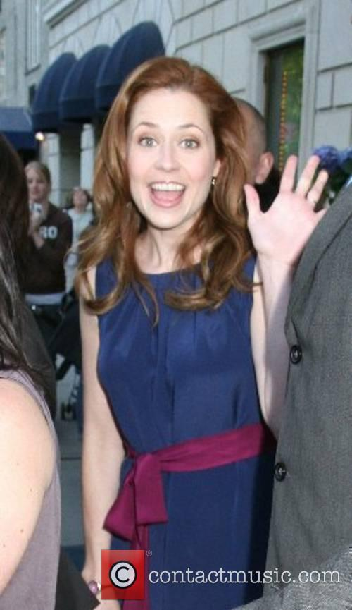 Jenna Fischer of NBC's 'The Office' leaves her...
