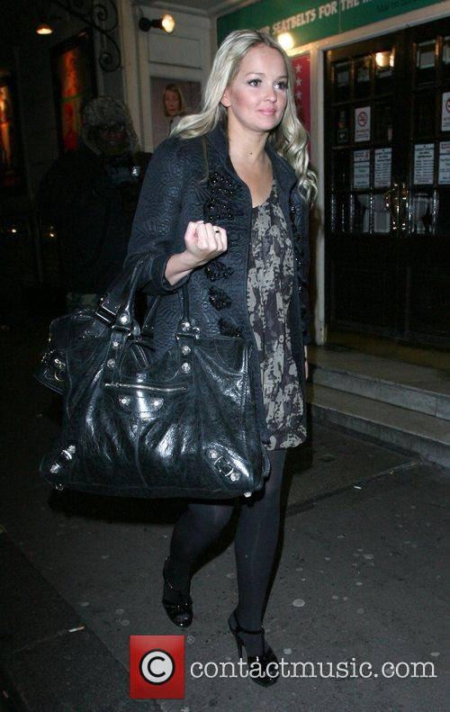 Jennifer Ellison leaving the Comedy Theatre for the...