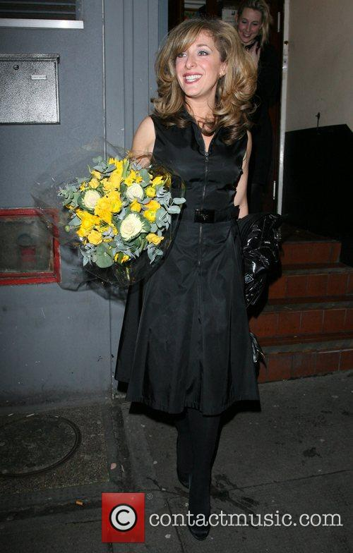 Tracy-Ann Oberman leaving the Comedy Theatre for the...